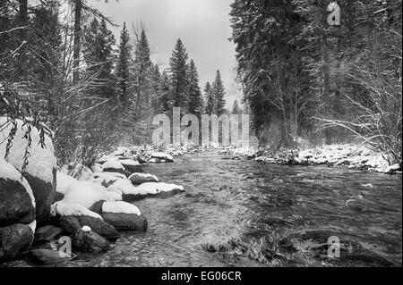 Winter Mountain Landscape - Stock Image