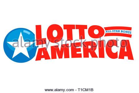 Lotto America logo icon - Stock Image