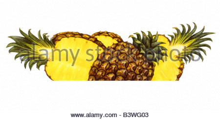 Pineapple Cropped - Stock Image