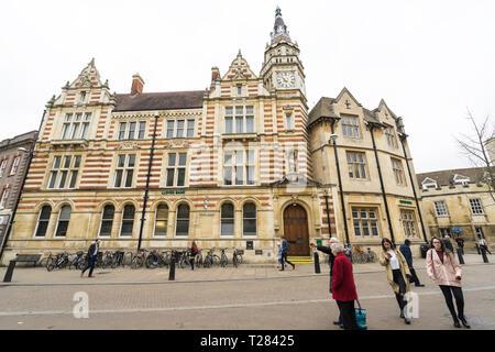 Lloyds bank Sidney Street Cambridge - Stock Image