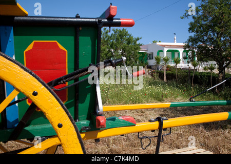 Portugal, Algarve, Near Silves, Colourful Carriage - Stock Image