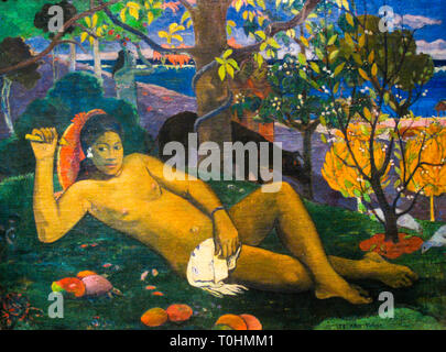 Paul Gauguin, The King's Wife, painting, 1896 - Stock Image