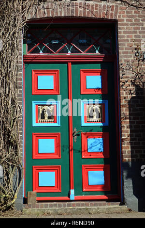 traditional front door in estebrugge in the old country - Stock Image