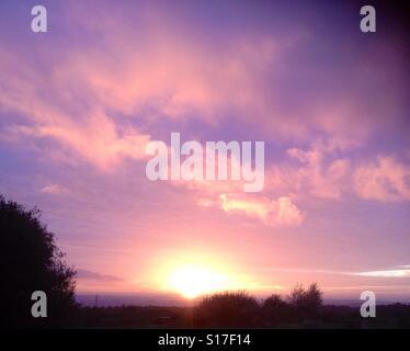 Celestial sunset. - Stock Image