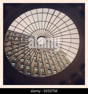 Building throw circular window - Stock Image