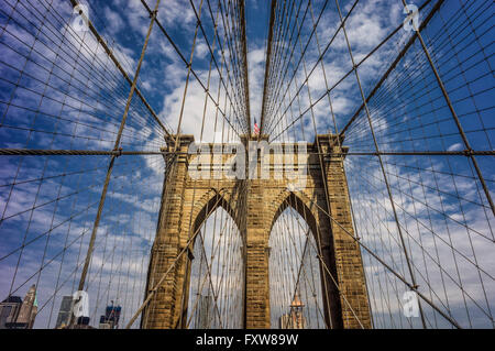 Brooklyn bridge,  New York , USA - Stock Image
