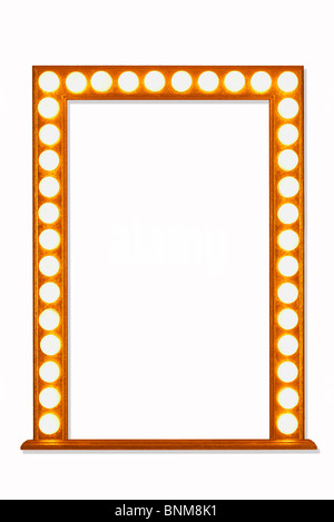 Mirror Frame in Lights - Stock Image