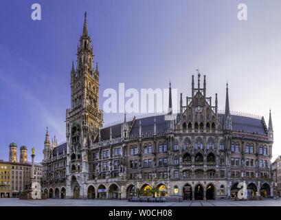 Marienplatz in Munich, Bavaria, Germany - Stock Image