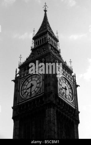 Ben Big black Britain capital clock destination England Europe famous historic history Houses landmark London monument - Stock Image