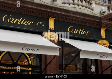 The Cartier Store, Bond Street, London, UK - Stock Image