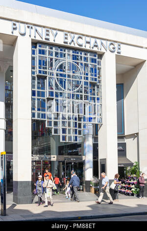 Entrance to Exchange Shopping Centre, Putney High Street, Putney, London Borough of Wandsworth, Greater London, England, United Kingdom - Stock Image