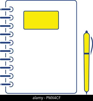 Icon of Exercise book. Thin line design. Vector illustration. - Stock Image