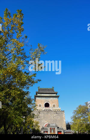 Beijing,China - Nov 14,2017:The Bell Tower in Beijing,China. - Stock Image
