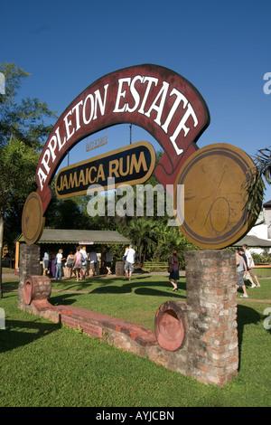 Jamaica Appleton Estate Jamaica Rum factory district St Elisabeth - Stock Image
