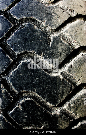 The tire tread of a big truck. - Stock Image
