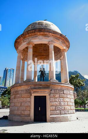 Statue Parque de Los Periodistas Bogota Colombia - Stock Image
