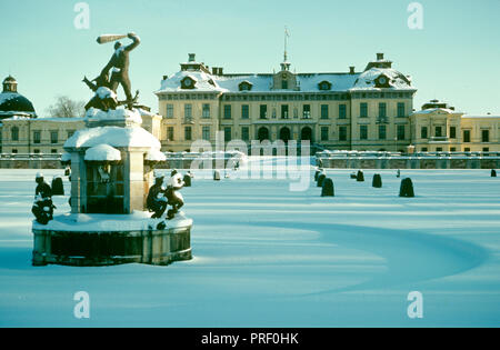 Drottningholm Castle, the home of the King and Queen of Sweden, located just outside Stockholm, Sweden - Stock Image