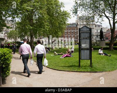 Cavendish Square Gardens in London UK - Stock Image