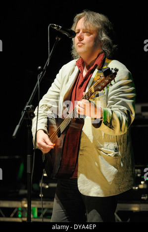Troy Donockley of The Bad Shepherds playing in concert - Stock Image