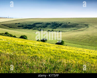 Devil's Dyke, Sussex, South Downs Way, Brighton, Green Field - Stock Image