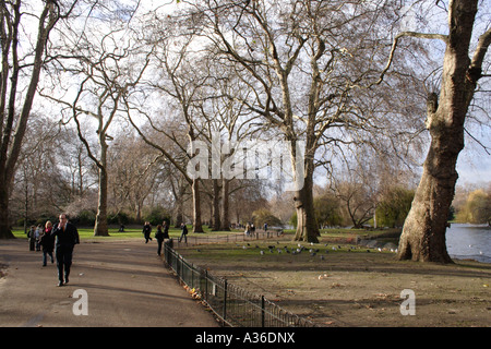 Saint James's Park London Winter 2006 - Stock Image