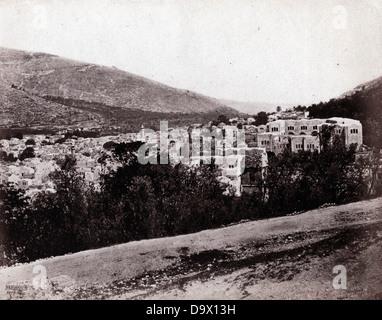Nablus, Palestine, 1862, by Francis Bedford - Stock Image