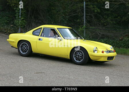 Ginetta G15 Mklll (1973), British Marques Day, 28 April 2019, Brooklands Museum, Weybridge, Surrey, England, Great Britain, UK, Europe - Stock Image