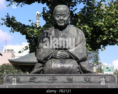 Statue of Uryu Iwako in the Senso-ji Temple, Tokyo, Japan - Stock Image