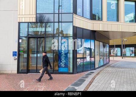 Travelodge, elwick place, ashford town centre, kent, uk - Stock Image