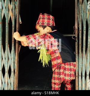 Newari boy - Stock Image