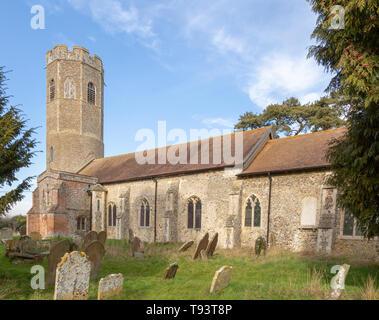 Church of Ilketshall St Andrew, Suffolk, England, UK - Stock Image