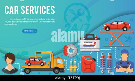 Car Services Banner - Stock Image
