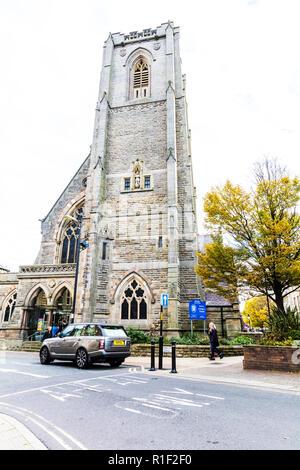 St Peters Church Harrogate town centre Yorkshire UK England, St Peters Church Harrogate, Harrogate church, UK churches, UK church, St Peters Church UK - Stock Image
