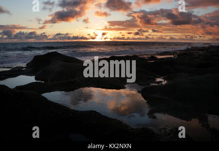sunset Costa Rica Pacific coast, the Osa Peninsula - Stock Image
