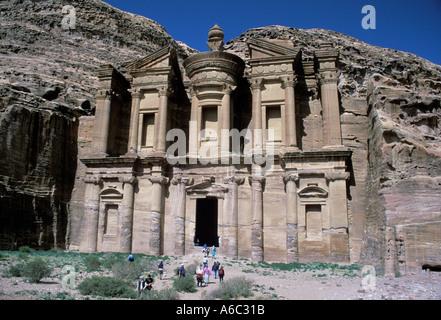 Jordan Petra Qasr al Bint The Monastery - Stock Image