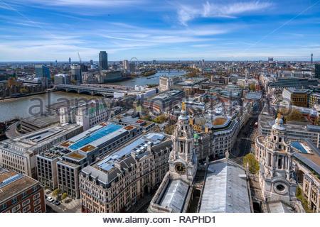 Aerial View of London, UK - Stock Image