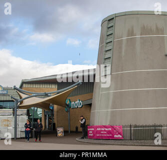 The motorway services at Wetherby in Yorkshire on the A1M serving north and south bound travellers - Stock Image