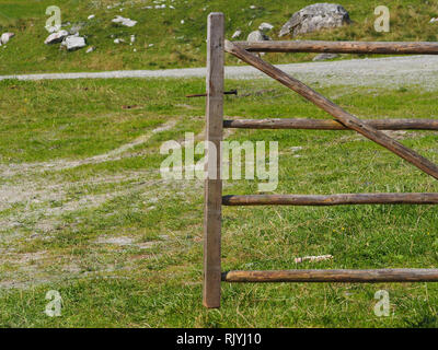 Wooden fence pasture - Stock Image