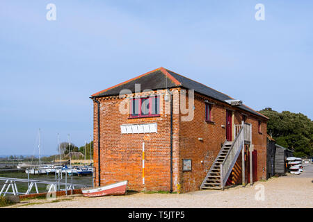 The old Grain Store circa 1850 at Dell Quay port now used by the Sailing Club. Chichester, West Sussex, England, UK, Britain - Stock Image