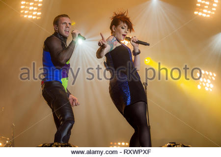 SCISSOR SISTERS (Jake Shears & Ana Matronic), 14 july 2011 - Stock Image