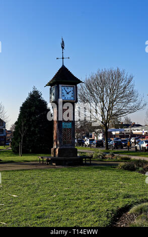 Clock Tower by Northolt underground station, London - Stock Image