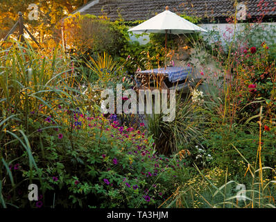 Cottage Garden, County Meath, Ireland - Stock Image