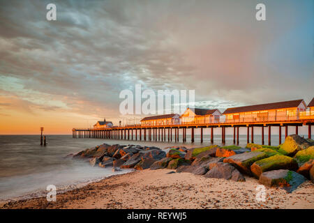 Southwold Pier, Southwold, Suffolk, England - Stock Image