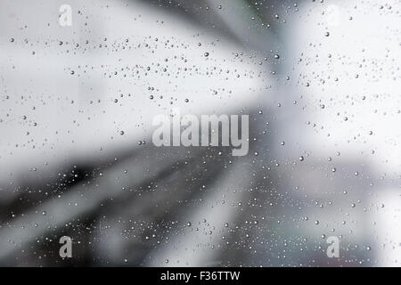 water droplets abstract rain background image - Stock Image