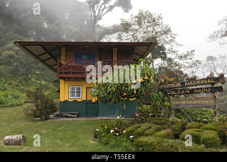 Ranger station of the Volcan Baru National Park at Boquete Panama - Stock Image