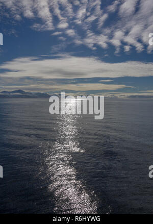 Looking  across the Forlandsund to the mountains, Spitzbergen - Stock Image