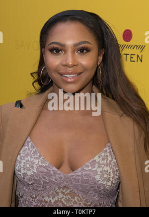 Celebs attend gala evening for Dolly Parton's 9 to 5 The Musical  Featuring: Samira Mighty Where: London, United Kingdom When: 17 Feb 2019 Credit: Phil Lewis/WENN.com - Stock Image