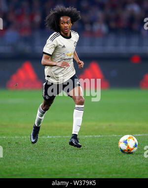 Optus Stadium, Perth, Western Australia. 13th July, 2019Optus Stadium, Perth, Western Australia. 13th July, 2019. Pre-season friendly football, Perth Glory versus Manchester United; Tahiti Chong of Manchester United runs with the ball Credit: Action Plus Sports/Alamy Live News Credit: Action Plus Sports Images/Alamy Live News - Stock Image