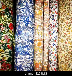 Liberty of London fabrics - Stock Image