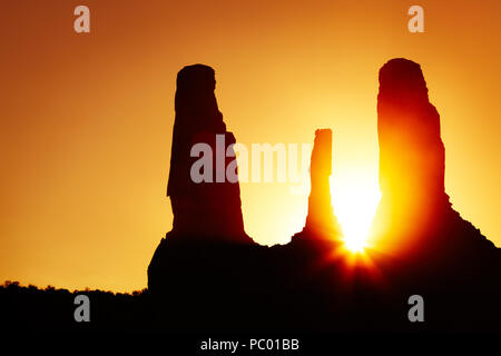 Sunset in Monument Valley, Arizona, USA - Stock Image